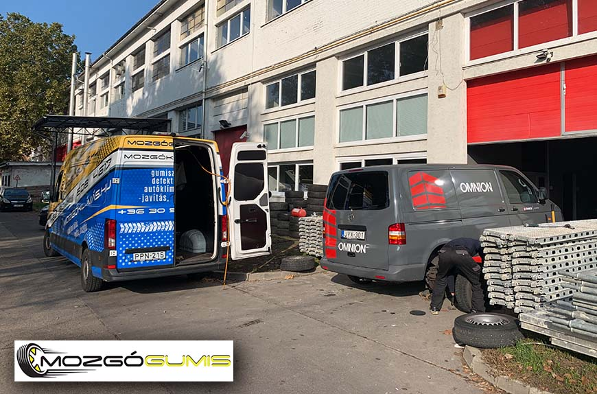 Óriási segítség az autósok számára a mobil gumiszerviz Budapesten